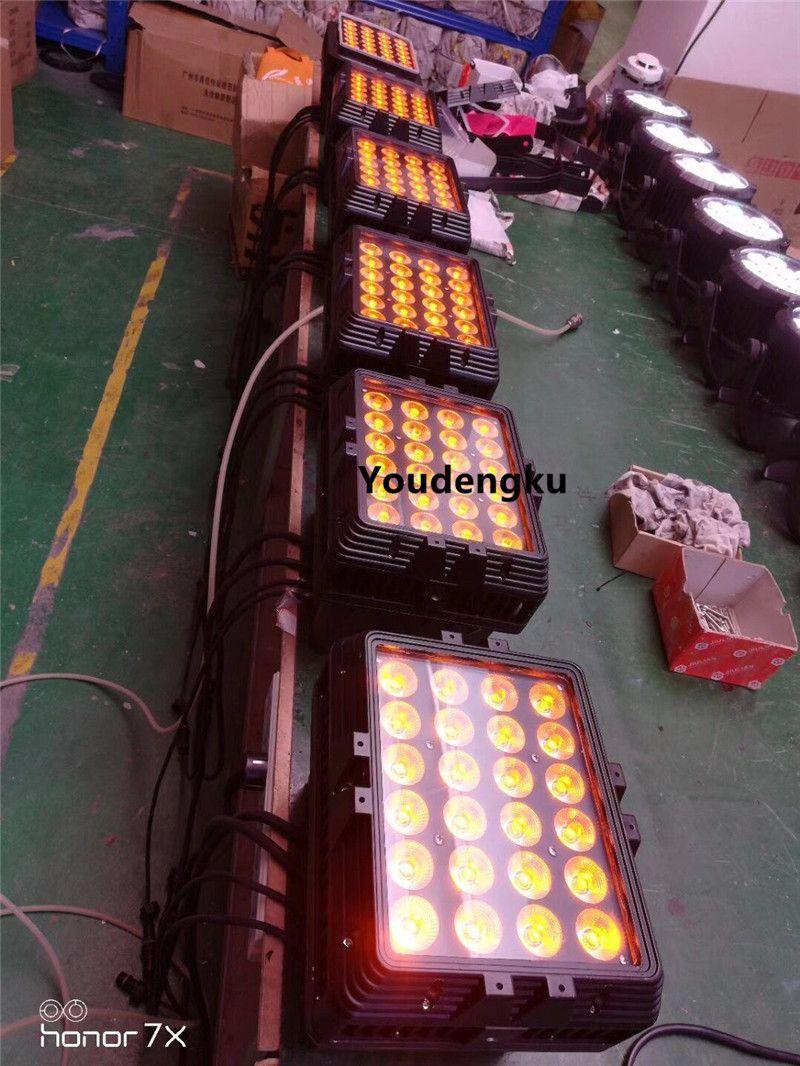 4 pezzi 10w 4in1 led IP65 rgbw Cambiare colore del LED wall washer wall washer impermeabile condotto città colore della luce