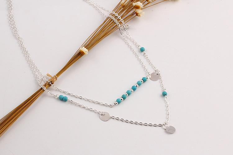 SHUANGR Venta Caliente Hecho A Mano Encanto 2 Capas Cadena de Eslabones de Moda Collar de Perlas y Joyería de Tira Larga Collares pendientes