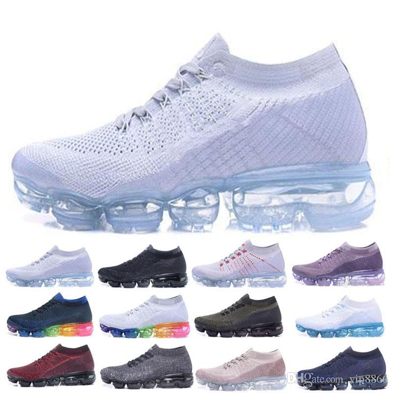 on sale edb33 a59af Acquista Trainer V2 Air Cushion Running Shoes Uomo Sneakers Donna Black  White Sport Shock Jogging Walking Hiking 2018 Designer Shoes Outdoor  Athletic A ...