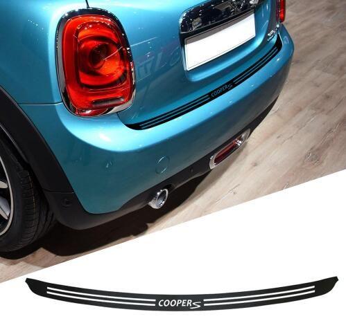 1 Piece 5d Carbon Fiber Car Rear Bumper Trunk Load Edge Protector Guard Trim Decal Sticker For Mini Cooper Clubman R55 F55 F56