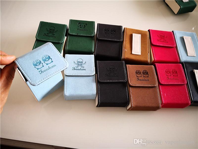 new fashionable PU Leather Cigarette Box Case retro Tobacco Holder Pocket cigarette pack Storage pocket wallet Smoking Cigarette Accessories