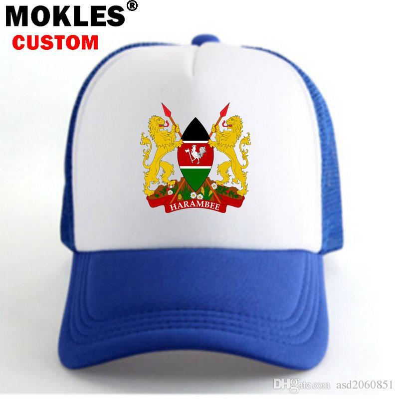 KENYA Male Diy Free Custom Made Name Number Ken Boy Casual Caps Nation Flag  Ke Swahili Republic Kenyan Country Unisex Advertising Ball Caps Skull Caps  Men ... 13dbca7716d