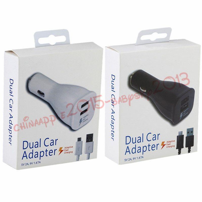 caricabatteria da auto 5V 2A 9V 1.67A Rapida ricarica adattiva Caricabatteria da auto 1.5 m Cavo di ricarica dati micro USB samsung s6 s7 edge note 4 5