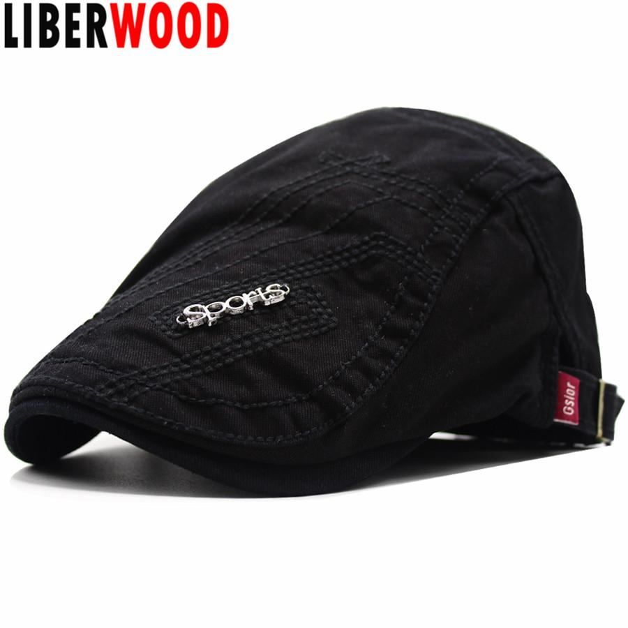 Acheter Liberwood 2018 New Fashion Coon Bérets Hommes Femmes Chapeau De  Soleil Casquettes Décontractées Pour Les Bérets De Sport D été Britanniques  ... d83b303bf6e