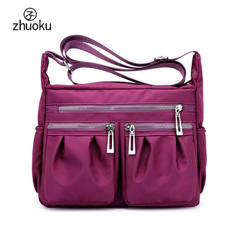 9d76deb3bc Aliexpress style Multi-pocket crossbody bags for women shoulder bag  waterproof girls school bag ladies messenger bags