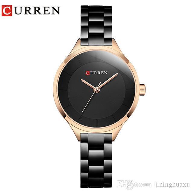 9a4a5d49e755 Compre CURREN Reloj De Oro Relojes Para Mujer Damas De Acero Creativo  Deportivo Para Mujer De La Mejor Marca Pulsera Relojes A Prueba De Agua  Reloj Femenino ...