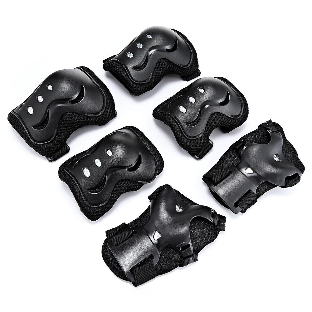 quality 6pcs/set Kids Elbow Knee Pads Wrist Protector Skating Protective Gear Sets skate Racing Cycling Skateboard Protect for kids