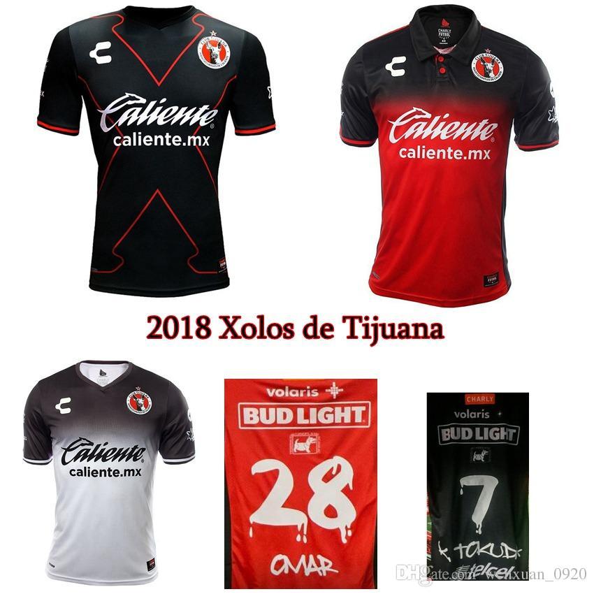 7cdd62e24 2019 2017 2018 Club Tijuana Soccer Jerseys 17 18 Xolos De Tijuana Mexico  Liga Jerseys Thai Quality Home Away Football Shirts G.BOU Size S 2XL From  ...