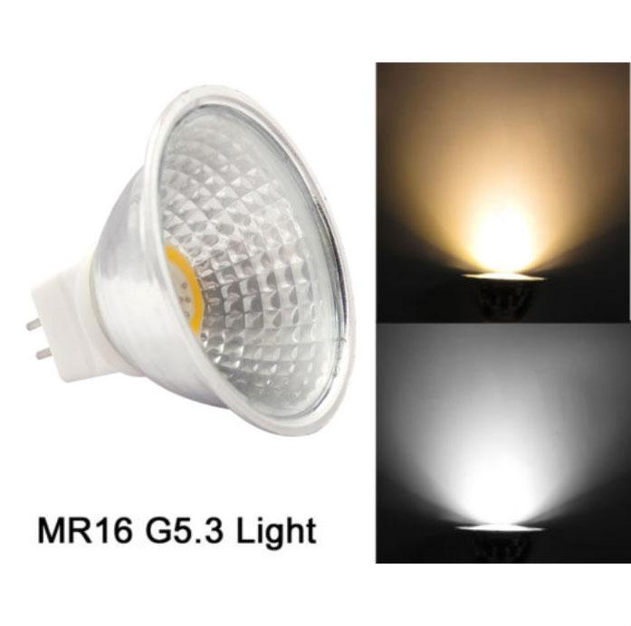 sale retailer 33e9b f141a 10pcs Dimmable 5W Equivalent 50W MR16 G5.3 COB 2020 LED Bulbs Recessed  Lighting Spotlight Light White/Warm aluminum Lamp