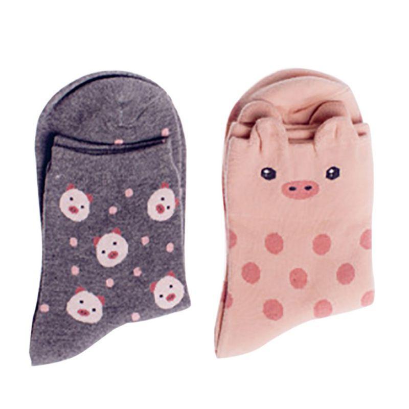 279b8bf10b70 2019 Women Girls Kawaii Animal Socks Cute Japanese Women Panda Pig Bear  Giraffe Cartoon Sock Novelty Cotton Long Socks From Honjiao, $28.06 |  DHgate.Com