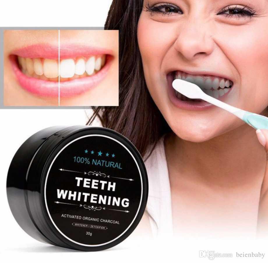 2018 الأسنان مسحوق الخيزران معجون الفم العناية النظافة تنظيف الطبيعي تنشيط العضوية الفحم جوز الهند قذيفة الأسنان اللطخة الصفراء 30G