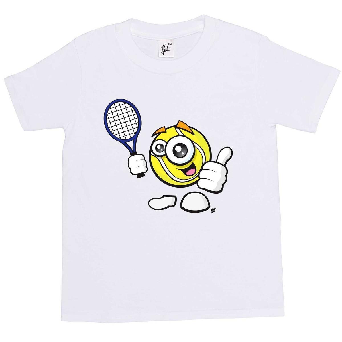 2aa804f84f6 Sporticon Happy Tennis Ball Ready With Racket Kids Boys T Shirt Fun T Shirt Buy  Online T Shirts From Linnan08