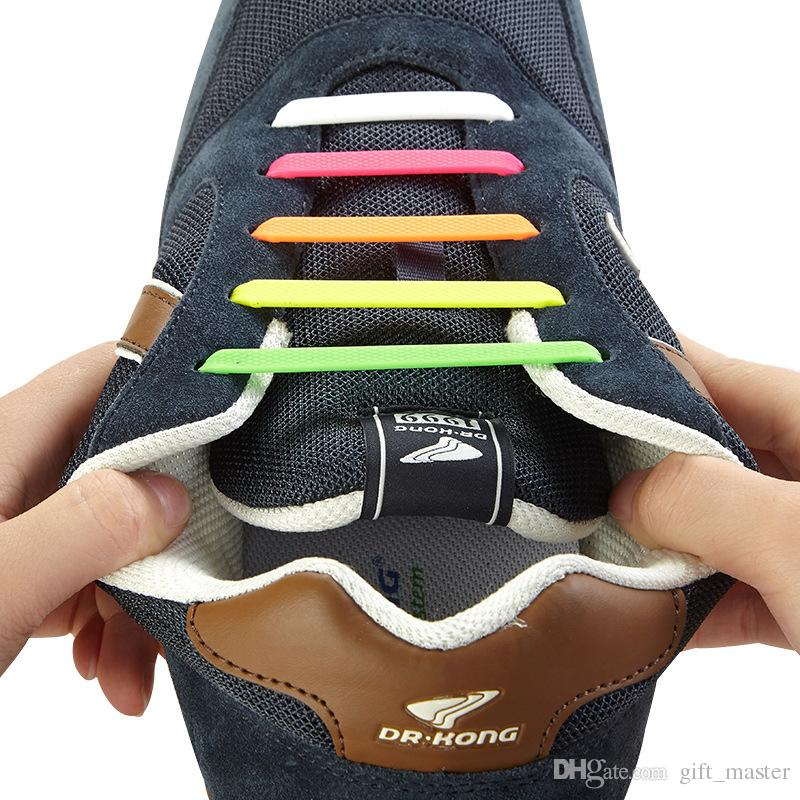 155b769e4f51b 2019 Silicone Shoe Laces Easy No Tie Shoelaces Round Elastic Shoe Laces  Running Shoes Fit All Sneakers A From Gift_master, $1.65 | DHgate.Com