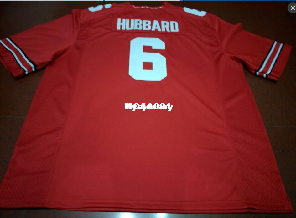 newest 291d3 4e920 Cheap Men #6 Sam Hubbard Ohio State Buckeyes College Jersey white red black  Personalized XS-6XL or custom any name or number jersey