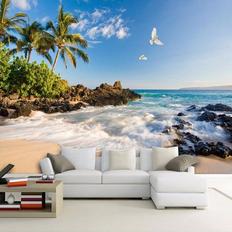 Acquista Arkadi Foto 3d Personalizzata Wallpaper Hd Sea View Tv