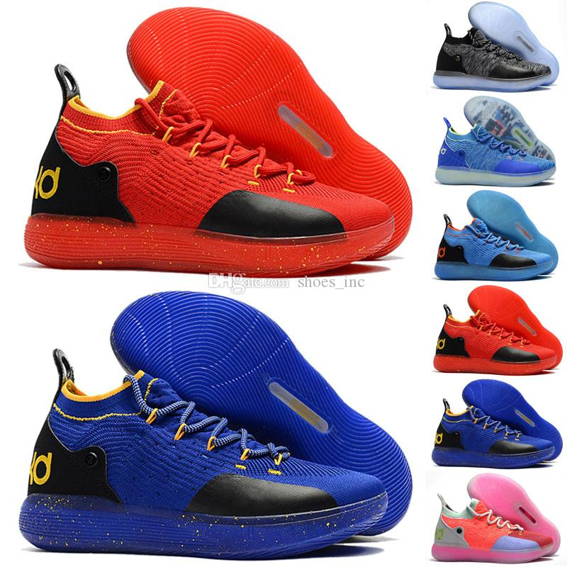 ce48b308c64 2019 Kids KD 11 Multi Color Shoes For Sale Top Quality Kevin Durant  Basketball Shoes Wholesale Store US 5 12 From Shoes inc