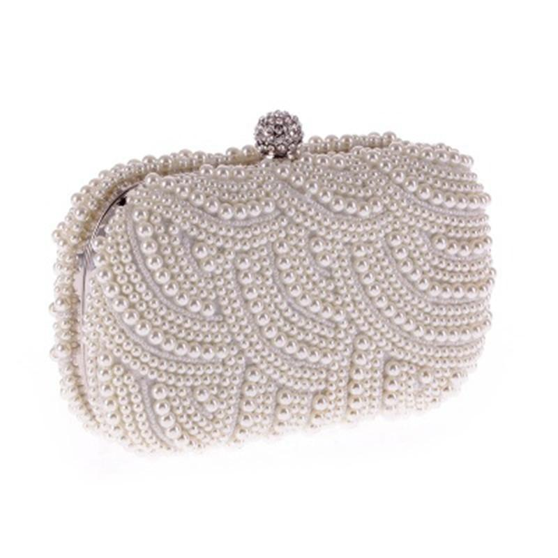 100% Hand Made Luxury Pearl Clutch Bags Women Purse Diamond Chain White  Evening Bags For Party Wedding Black Bolsa Feminina Leather Handbags Ladies  Handbags ...