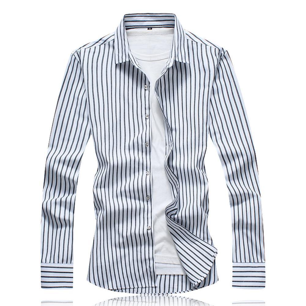 2019 New Autumn Fashion Men Cotton Shirts Nice Casual Classic Design