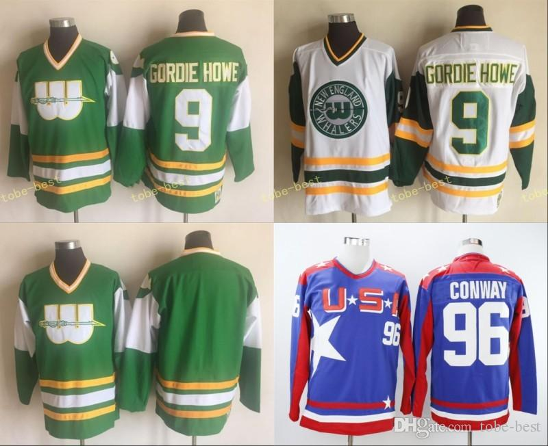 056de8c91 ... australia 2018 hartford whalers jersey 9 gordie howe blank no name  green white 100 stitched ccm
