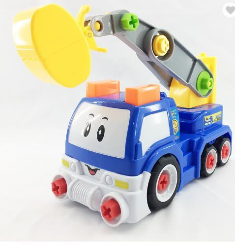 2018 newest,Take a part vehicle DIY cartoon truck assemble toy,Plastic ABS and Educational Toys