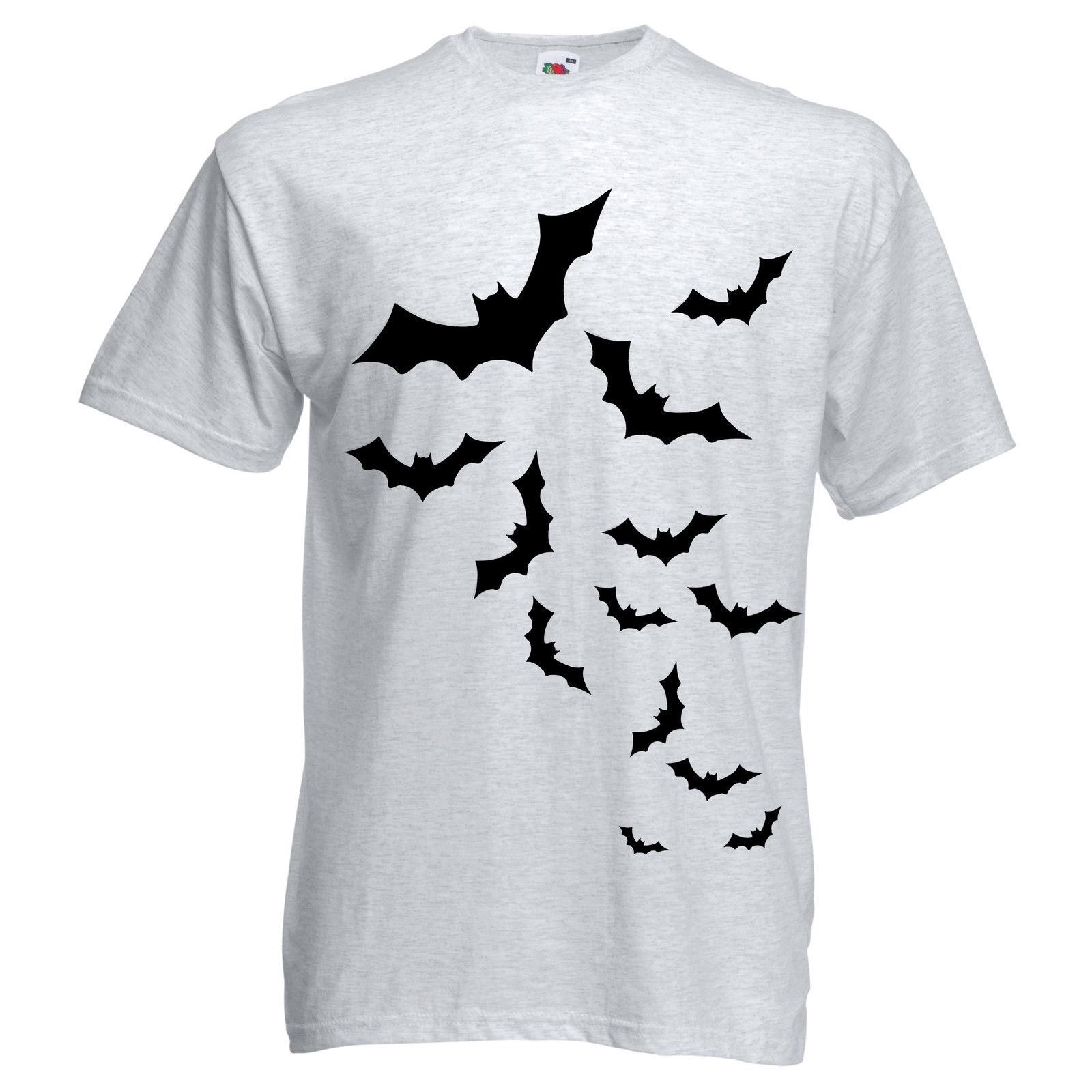 158753e37 NEW GIRLS BOYS WOMENS MENS HALLOWEEN BATS SWARM TRICK OR TREAT SCARY TOP T  SHIRT Funny It Shirts Ridiculous Shirts From Freshrags, $11.01| DHgate.Com