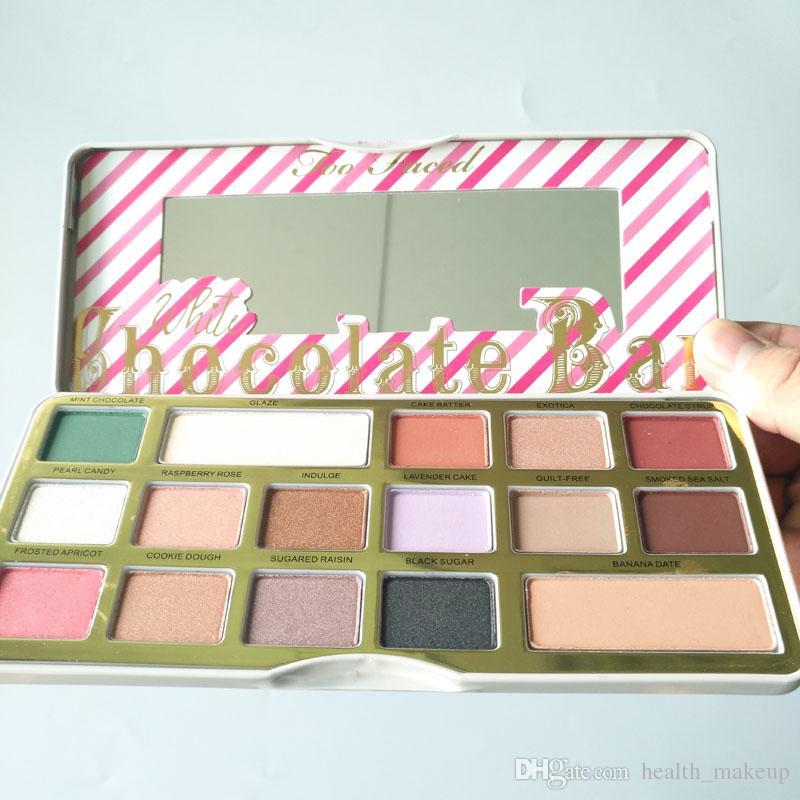 Too Makeup Faced White Chocolate Bar Chip Palette Sombra de ojos Edición limitada Matte Eyeshadow Hot Newest Palettes Envío gratis