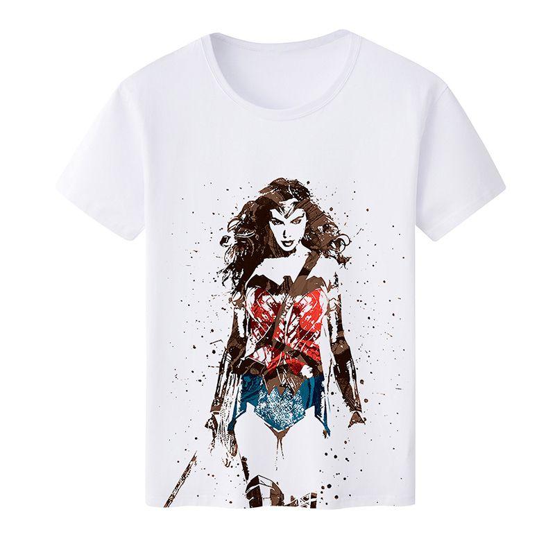 Compre 2018 Moda Camiseta Mujer Maravilla Mujer Superman Película O ...