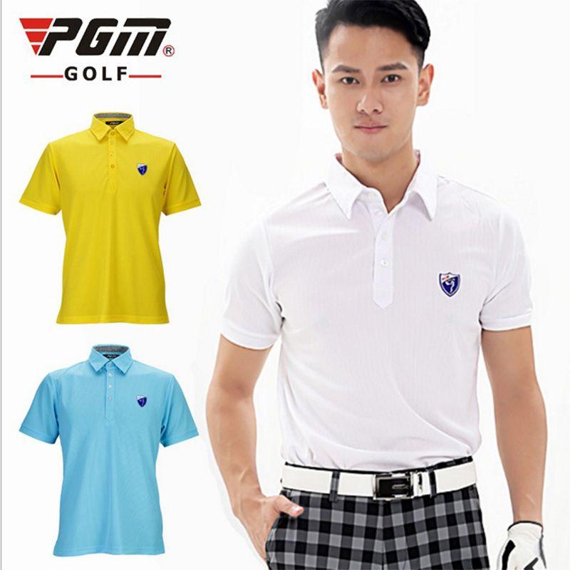 183f97227ef7 PGM Golf Sports Men Cotton Polo GolfTrainning T Shirts Summer Short ...
