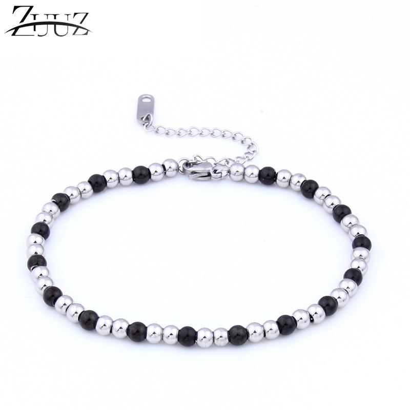 086f26b30 2019 ZUUZ Silver Gold Black Beads Bracelet Charm Bracelets Bangles Jewelry  Accessories Chain Link Braclet For Women Female Friendship From Tiebanshao,  ...