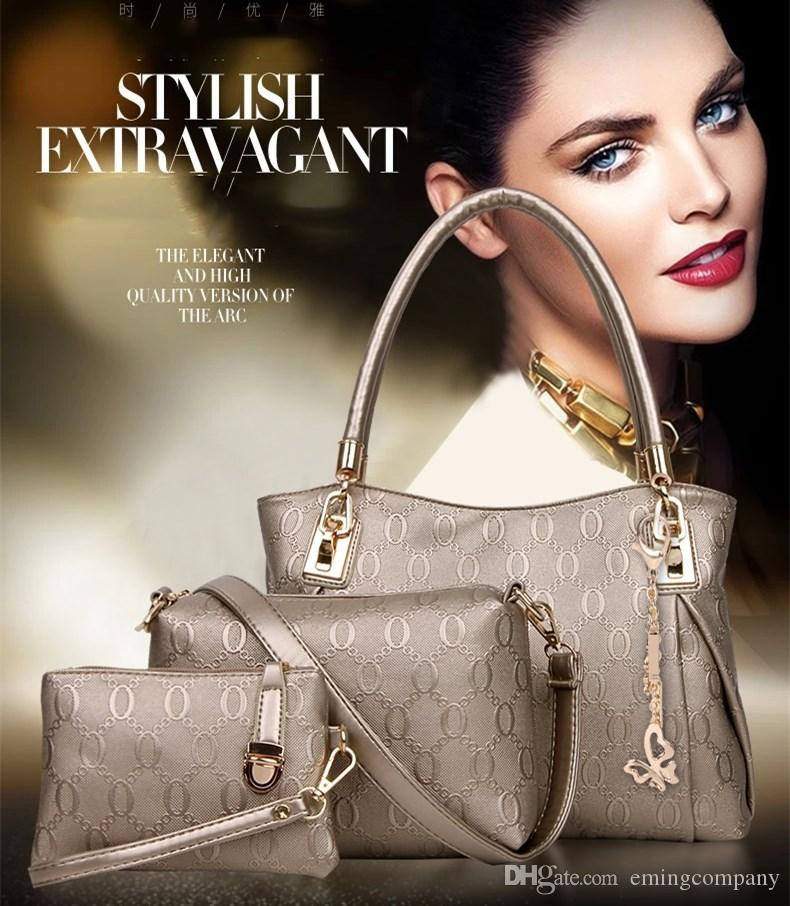 98b8e1d86eeb Womens Designer Handbags Set Luxury Tote Should Bag Fashion Black Golden  Yellow Beige White Blue Color For Wholesale Black Handbag Purses Wholesale  From ...