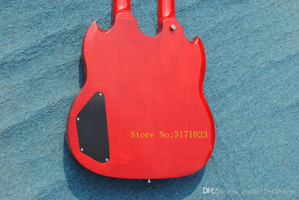 red Double neck 1275 red electric guitar 12 strings guitar