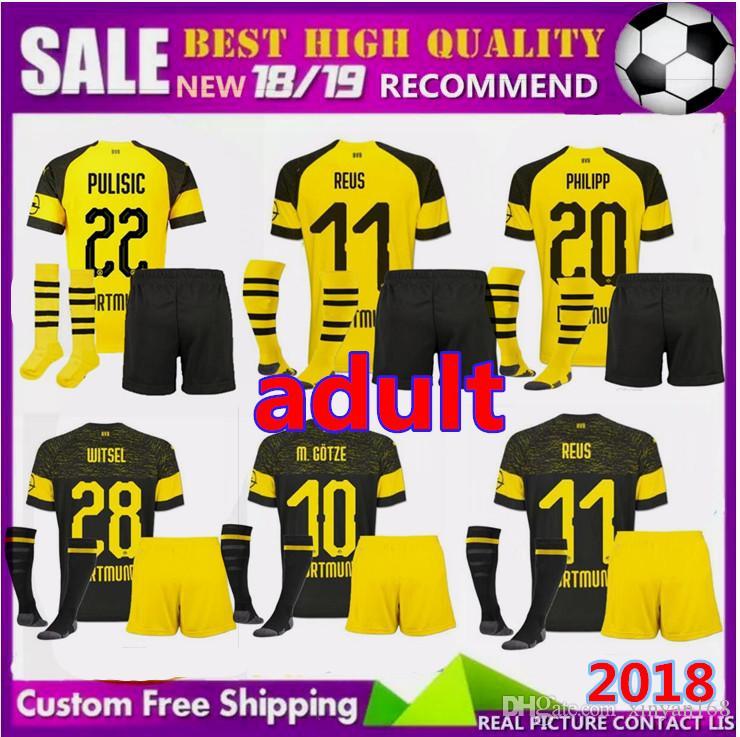 4f402a08e Adult BVB Borussia Dortmund Soccer Jersey 2019 2018 PHILIPP GOTZE ...