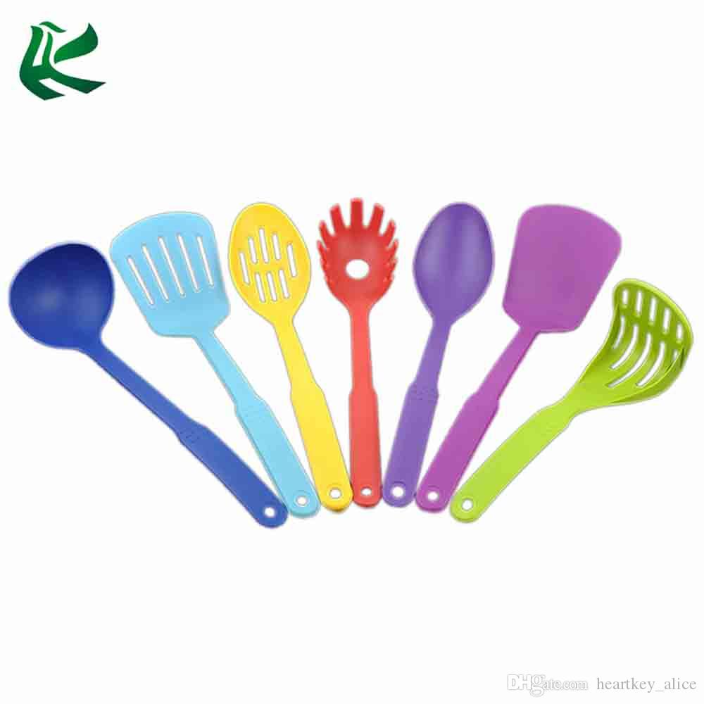 Food Grade Nylon Color Kitchen Cooking Utensils Set Ladle Spoon ...