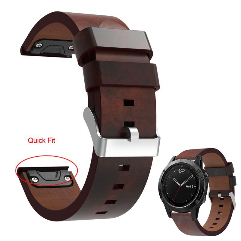 f4a8912e892 Luxury Leather Strap Replacement 22mm Watch Band With Quick Fit For Garmin  Fenix 5 Forerunner 935 Approach S60 Bracelet Best Smart Watches Ios  Smartwatch 2 ...