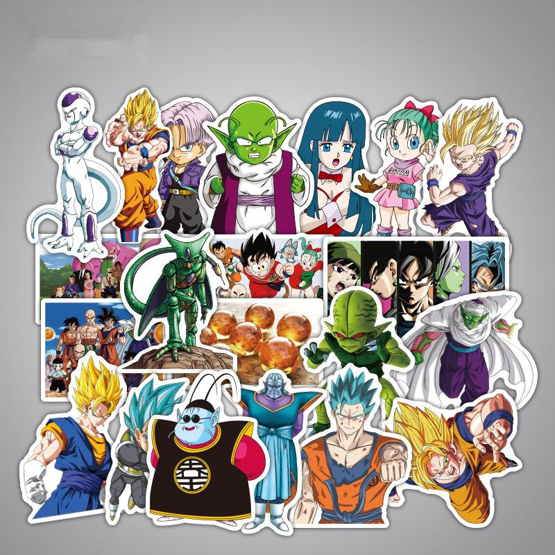 Dbz anime dragon ball z stickers super saiyan goku cartoon skateboard sticker decal childrens toy boys girls gift novel novelty games for sports day from