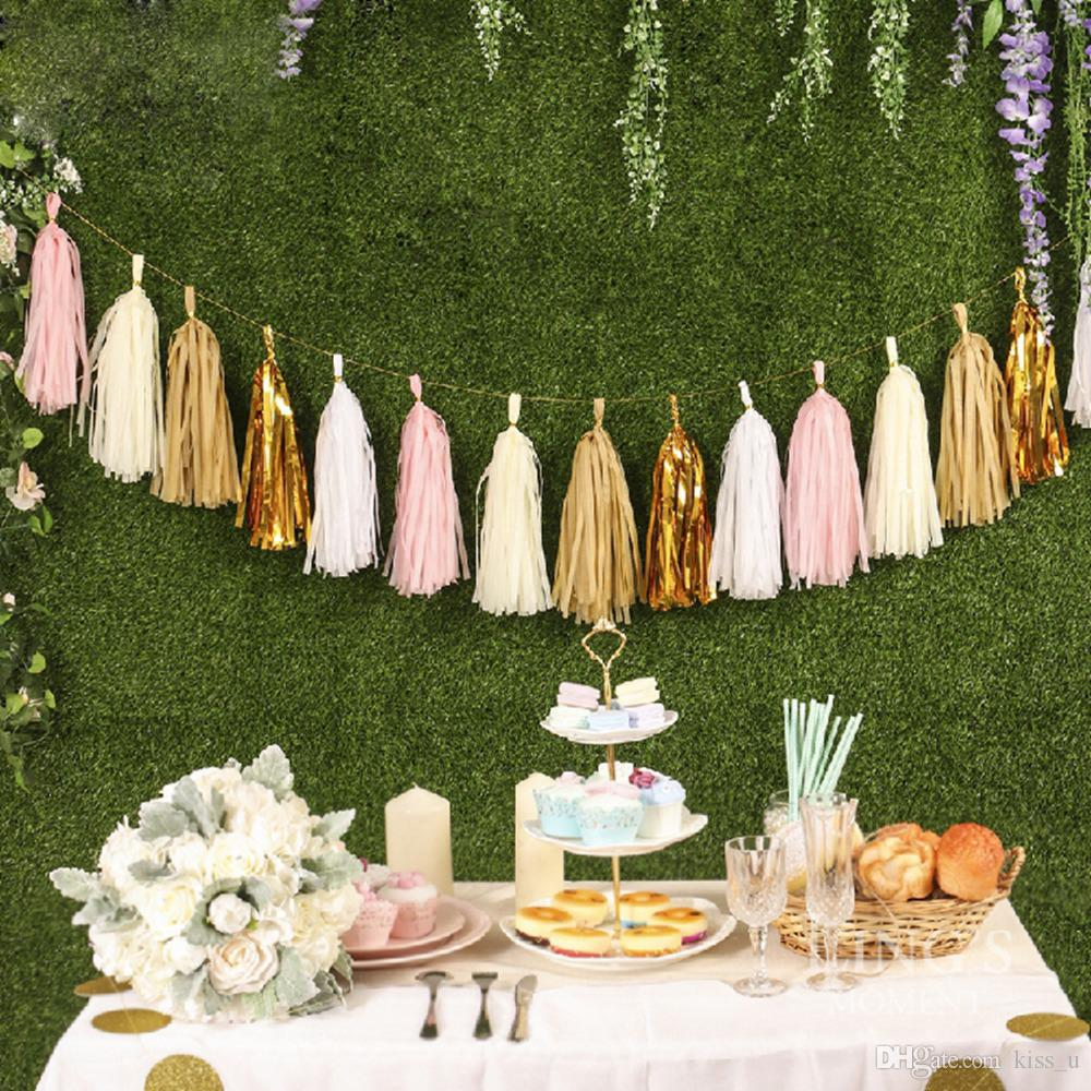35cm Tissue Paper Tassels Garland Wedding Decoration Birthday Baby