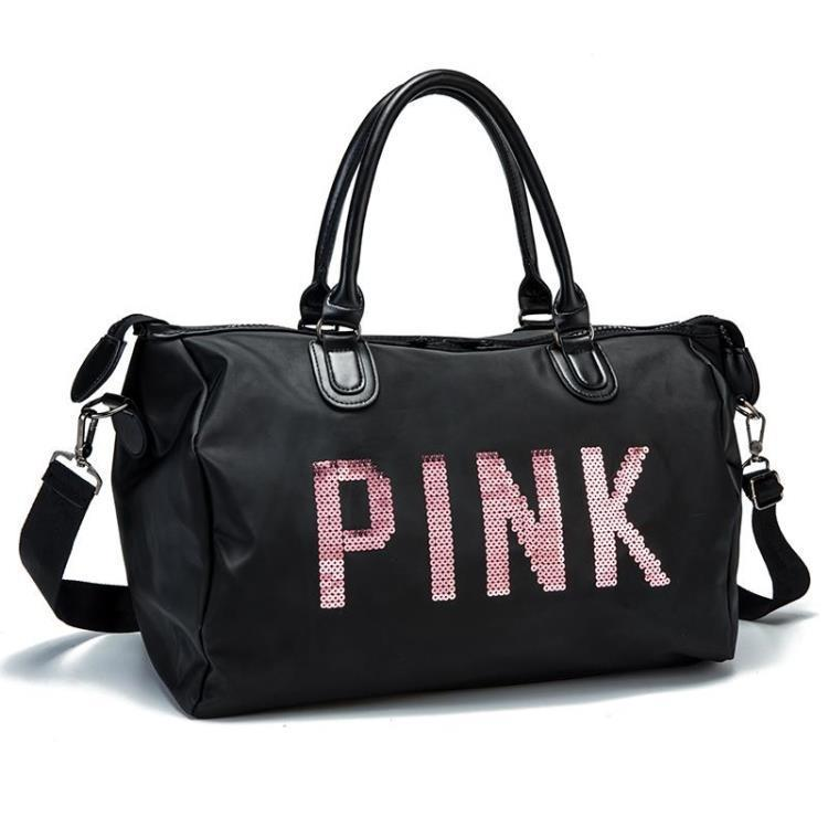 e977eecb28ea 2019 Designer Metal Sequins Letters Gym Bag For Women Large Sport Fitness  Bag Women Tote Handbag Travel Duffle Bolsa QL From Raisins