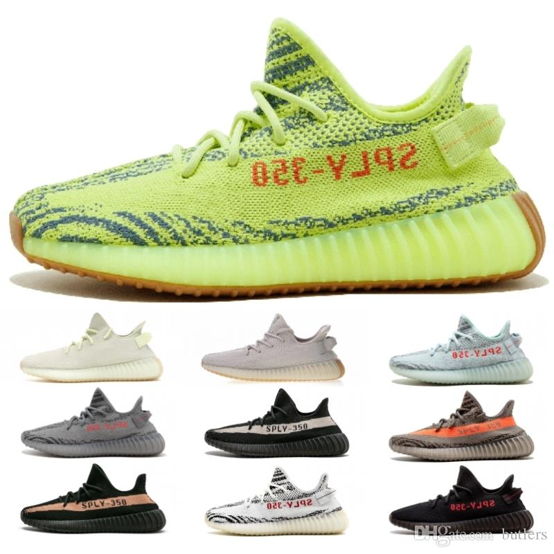 339b9439f 2019 Kanye West V2 Sesame F99710 Frozen Yellow Beluga 2.0 Bred Cream White Copper  Zebra Men Running Shoes Sports Sneakers With Box From Butlers