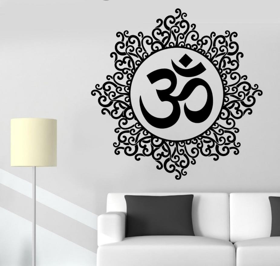 Removable Wallpaper Indian Spiritual Zen Lotus Vinyl Decal Yoga Wall Stickers For Room Decor Home Decor Wall Stickers For Home Decoration Wall Stickers For