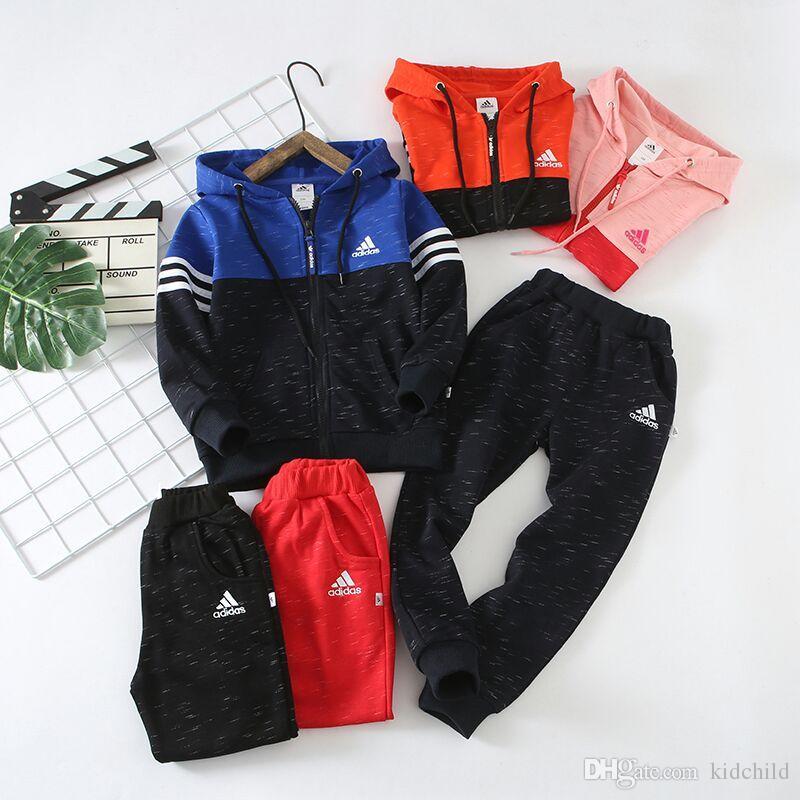 Acheter Marque Hot Design Enfants Survêtements Automne Marque Enfants  Vêtements Set Garçons Sport Suit Enfants À Manches Longues Hoodies + Pantalon  Filles ... ee30f46eead