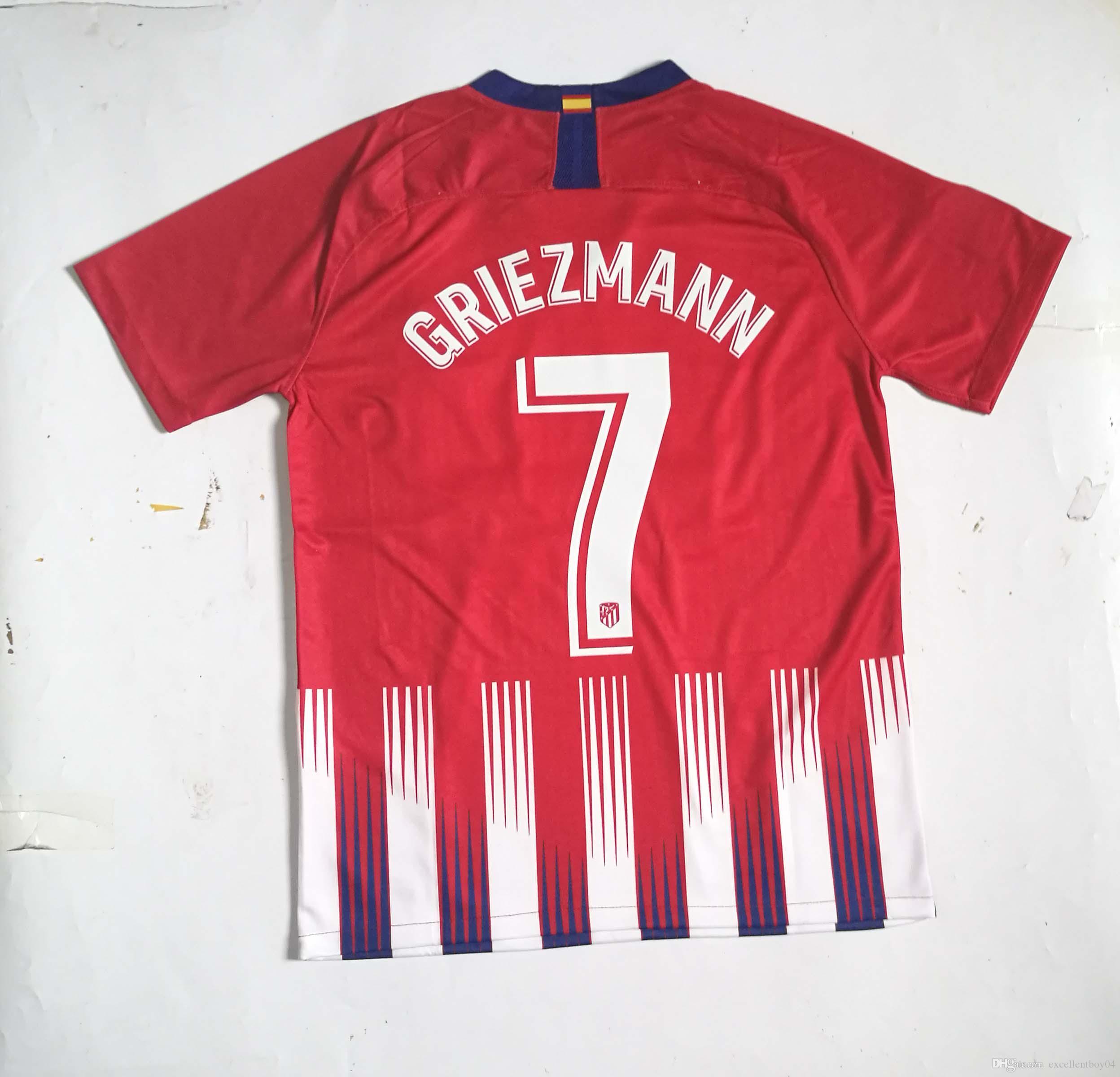 01d2678d7 18 19 7  GRIEZMANN Soccer Jerseys Home Men s Color Red Shirt Size S-XL  7  GRIEZMANN Football Uniforms 2018 2019 GRIEZMANN GRIEZMANN Jersey GRIEZMANN  Shirt .