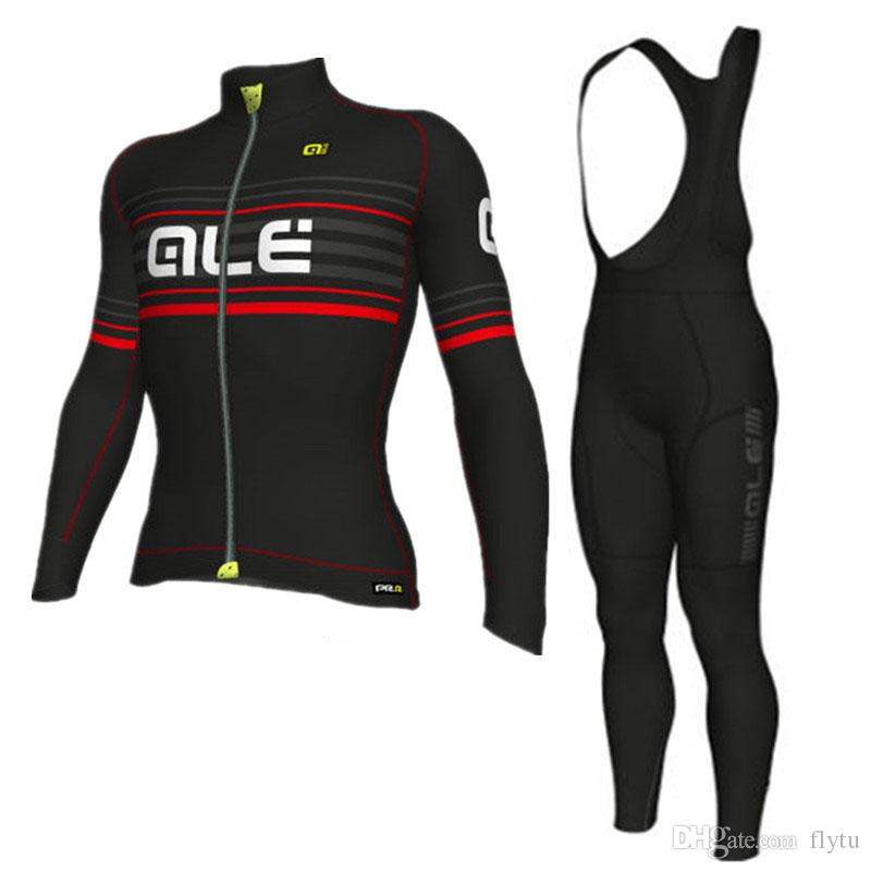 2018 ALE Team Pro Long Sleeve Spring Cycling Set MTB Bike Clothing Uniform  Racing Bicycle Clothes Wear Maillot Ropa Ciclismo Men s Long Sleeve Jersey  Bib ... 381b57058
