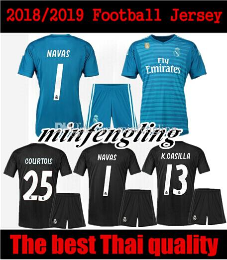 Best Adult Kit 18 19 Courtois 25 Real Madrid Goalkeeper Soccer Jerseys Home  Away 2018 2019 Real Madrid Navas K.CASILLA Men Sets Football Shi UK 2019  From ... 63b1be8e9