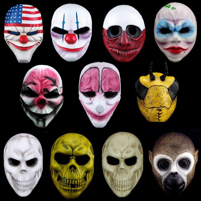 Hd Cadılar Bayramı Korku Maskesi Payday 2 Maske Yeni Konu Oyunu Serisi Reçine Korkunç Palyaço Masquerade Parti Maskara Carnaval