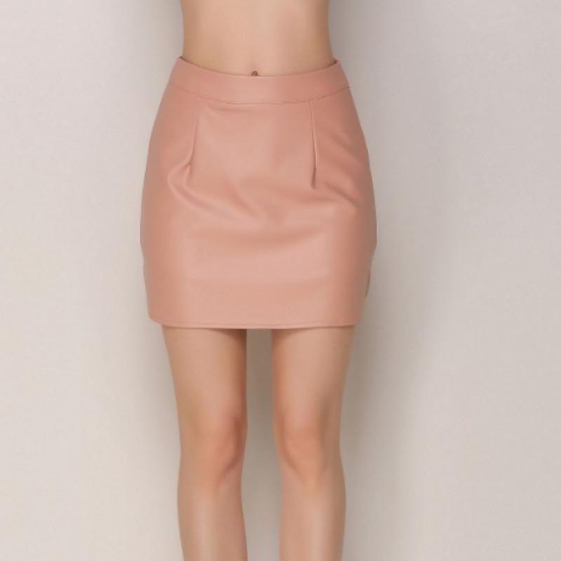 ef7ab4e1463557 2018 New Trendy Women High Quality PU Stitching Package Hip Skirt Sexy Mini  Skirts for Choice Black Pink Khaki S-XL Online with $39.17/Piece on  Modeng02's ...