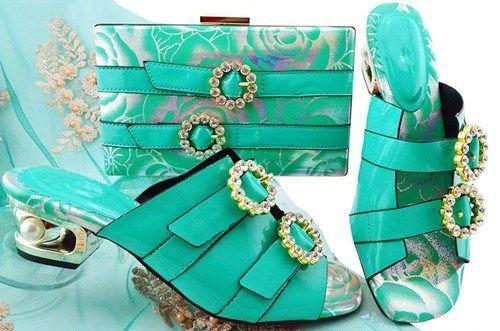 1751584dcc2 Elegant Turquoise Low Heeled Shoes