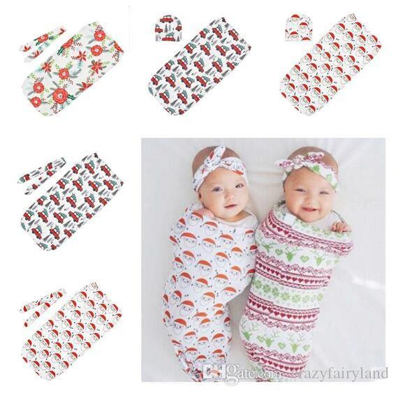 1bfb0e2f8 Santa Claus Swaddle Blankets Newborn Baby Christmas Baby Sleeping Wrap With  Hairband Hat Set Baby Cocoon Sleeping Bag Gifts Good Cheap Sleeping Bags  Junior ...
