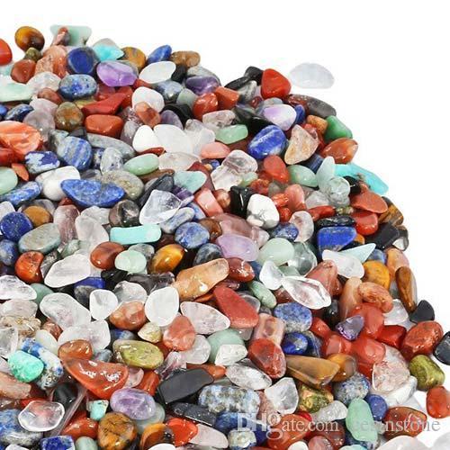 100g Assorted crystal Stone Quartz Gravel New Decorate Aquarium Fish Tank Tumbled Crushed Irregular Shaped Chips adorn Healing Rough big