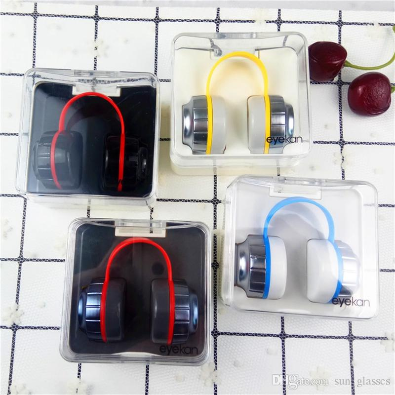 2018 new Contact lens case headset earphone model contact case lenses for  eyes colored eye contacts glasses case L1708