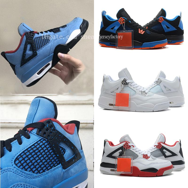quality design 980ed 5ec8f Stockx Travis Scott X 4 Houston Oilers Blue Basketball Shoes 4s Raptors  Motorsport Royalty for Men 2018 Authentic Sneakers Sports 308497-406